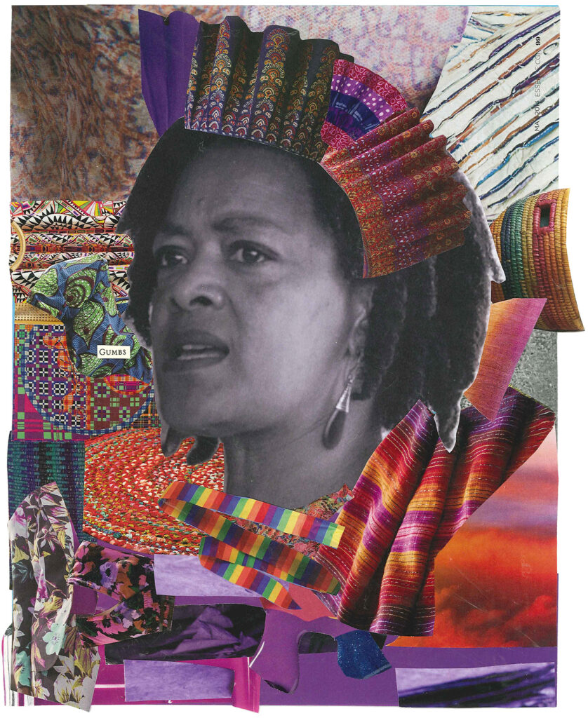 Toni Cade Bambara collage by Alexis Pauline Gumbs